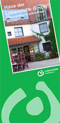 Flyer Haus der Lebenshilfe GmbH